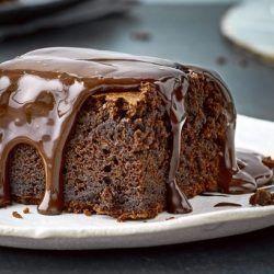 Bizcocho de Nocilla y cobertura de Brownie