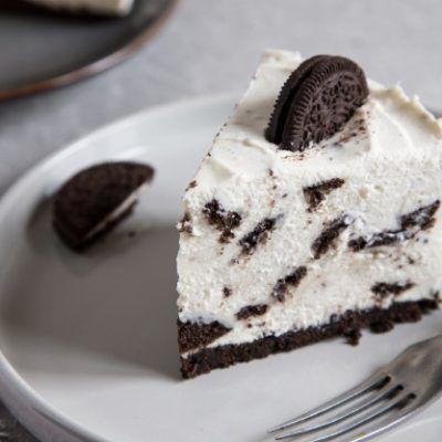 tarta de chocolate blanco y oreo thermomix