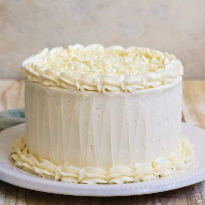 Tarta de chocolate blanco casera